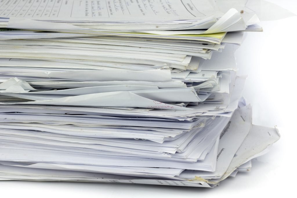 """A messy stack of papers.  <!-- HTML Credit Code for Can Stock Photo --> <a href=""""https://www.canstockphoto.com"""">(c) Can Stock Photo / Gloszilla</a>"""
